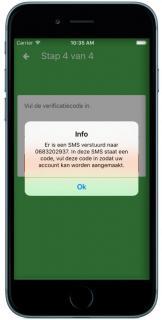 Polismap APP Stap 5: SMS verstuurd